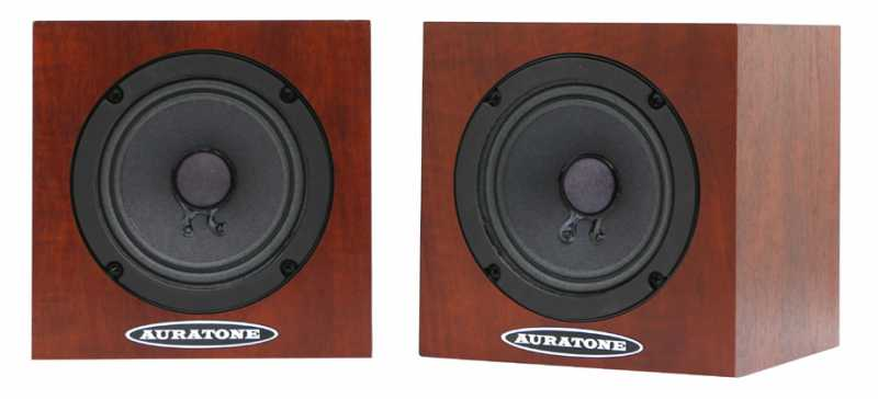 AURATONE 5C Super Sound Cube Pair woodgrain